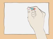 Χέρι με το σχέδιο μολυβιών Στοκ Εικόνα