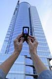 Χέρι με το τηλέφωνο Στοκ εικόνες με δικαίωμα ελεύθερης χρήσης