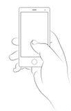 Χέρι με το smartpone Στοκ Φωτογραφία