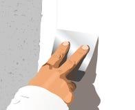 Χέρι με spatula Στοκ Εικόνα