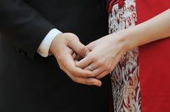 Χέρι μορφής καρδιών Στοκ Φωτογραφίες