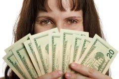 χέρι δολαρίων νομίσματος Στοκ Εικόνες