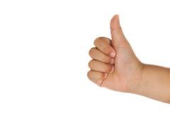 Χέρι παιδιών με το πλήγμα επάνω Στοκ φωτογραφίες με δικαίωμα ελεύθερης χρήσης