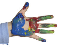 χέρι παιδιών Στοκ εικόνα με δικαίωμα ελεύθερης χρήσης