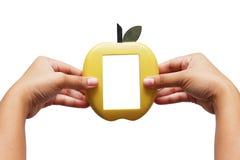 χέρι πλαισίων μήλων Στοκ φωτογραφίες με δικαίωμα ελεύθερης χρήσης
