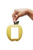 χέρι πλαισίων μήλων Στοκ Φωτογραφία
