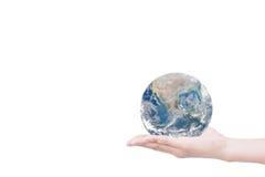Χέρι που δίνει τη γη η γη σώζει Στοιχεία αυτής της εικόνας fu Στοκ Φωτογραφίες