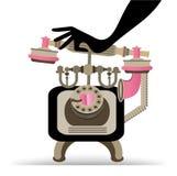 Χέρι που απαντά στο εκλεκτής ποιότητας τηλέφωνο Στοκ εικόνες με δικαίωμα ελεύθερης χρήσης