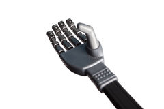 Χέρι που απομονώνεται ρομποτικό στο λευκό Στοκ φωτογραφίες με δικαίωμα ελεύθερης χρήσης