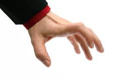 χέρι που απομονώνεται Στοκ Εικόνες