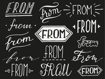 Χέρι που γράφονται ampersand και σλόγκαν απεικόνιση αποθεμάτων