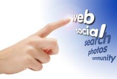 Χέρι που δείχνει στον Ιστό Στοκ φωτογραφίες με δικαίωμα ελεύθερης χρήσης
