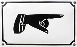 χέρι που δείχνει το στενα Στοκ φωτογραφία με δικαίωμα ελεύθερης χρήσης