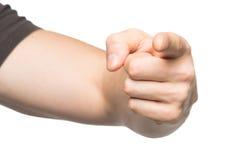 Χέρι που δείχνει στην εμφάνιση Στοκ φωτογραφία με δικαίωμα ελεύθερης χρήσης