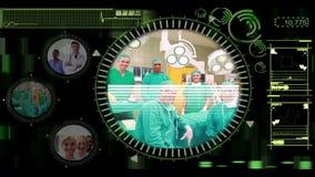 Χέρι που επιλέγει τους συνδετήρες των διάφορων ιατρικών ομάδων στις διαλογικές επιλογές απόθεμα βίντεο