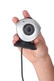 Χέρι που κρατά ένα webcam Στοκ φωτογραφίες με δικαίωμα ελεύθερης χρήσης