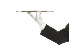 χέρι που κρατά τον ασημένιο  Στοκ Εικόνες