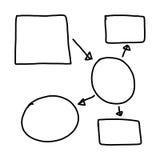 Χέρι που σύρεται μια γεωμετρική γραφική παράσταση μορφών συμβόλων γραφικής παράστασης στην εισαγωγή μέσα Στοκ Εικόνες