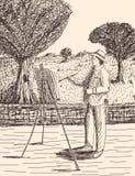 Χέρι που σύρεται στο ύφος σκίτσων καλλιτεχνών Στοκ φωτογραφία με δικαίωμα ελεύθερης χρήσης