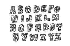 Χέρι που σύρεται abc, doodle ύφος Στοκ Εικόνες