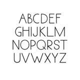 Χέρι που σύρεται doodle abc Στοκ φωτογραφίες με δικαίωμα ελεύθερης χρήσης