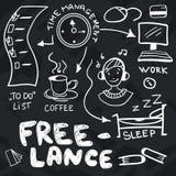 Χέρι που σύρεται doodles για ανεξάρτητο Στοκ Εικόνες