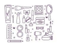 Χέρι που σύρονται makeup και χρώμα καλλυντικών doodle Στοκ φωτογραφία με δικαίωμα ελεύθερης χρήσης