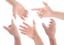 Χέρι που τίθεται στο άσπρο υπόβαθρο, που απομονώνεται Στοκ Φωτογραφίες