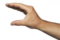 Χέρι που τακτοποιείται με μορφή των σαγονιών ενός κροκοδείλου Στοκ Εικόνα