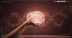 Χέρι που χρησιμοποιεί την ψηφιακή οθόνη διεπαφών φιλμ μικρού μήκους