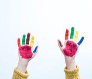 χέρι που χρωματίζεται Στοκ εικόνα με δικαίωμα ελεύθερης χρήσης