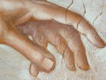 Χέρι που χρωματίζεται: Στοκ Φωτογραφία