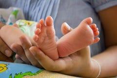 χέρι ποδιών μωρών Στοκ φωτογραφία με δικαίωμα ελεύθερης χρήσης