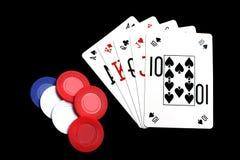 Χέρι πόκερ Στοκ φωτογραφία με δικαίωμα ελεύθερης χρήσης
