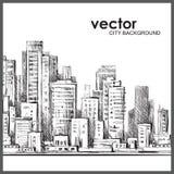 Χέρι πόλεων που σύρονται, διανυσματική απεικόνιση Στοκ εικόνες με δικαίωμα ελεύθερης χρήσης