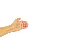 Χέρι σημαδιών Στοκ Φωτογραφία