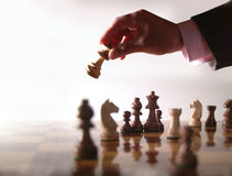 χέρι σκακιού Στοκ Φωτογραφίες
