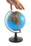 Χέρι στον κόσμο Στοκ εικόνες με δικαίωμα ελεύθερης χρήσης