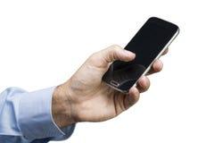 Χέρι στο έξυπνο τηλέφωνο Στοκ Εικόνα