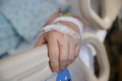 Χέρι στο νοσοκομείο Στοκ Εικόνες