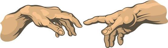 Χέρι στο χέρι δερματοστιξία Στοκ Φωτογραφίες