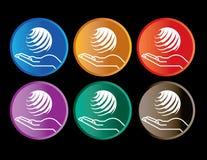 χέρι σφαιρών κουμπιών Απεικόνιση αποθεμάτων