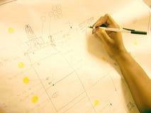 χέρι σχεδίων Στοκ φωτογραφία με δικαίωμα ελεύθερης χρήσης