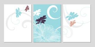 Χέρι-σχεδιασμός του floral υποβάθρου με τις μαργαρίτες λουλουδιών χαιρετισμός καρτών μοντέρν&omi Στοκ φωτογραφία με δικαίωμα ελεύθερης χρήσης