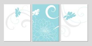 Χέρι-σχεδιασμός του floral υποβάθρου με τις ντάλιες λουλουδιών χαιρετισμός καρτών μοντέρν&omi Στοκ Φωτογραφία
