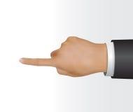 Χέρι σχετικά με την οθόνη // την απεικόνιση Στοκ εικόνες με δικαίωμα ελεύθερης χρήσης