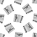 Χέρι σχεδίων ακκορντέον που σύρεται Στοκ φωτογραφία με δικαίωμα ελεύθερης χρήσης
