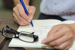 Χέρι σχεδίων Στοκ εικόνες με δικαίωμα ελεύθερης χρήσης