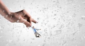 Χέρι της δύναμης και του ελέγχου Μικτά μέσα Μικτά μέσα Στοκ Φωτογραφία