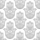 Χέρι της Fatima Seamless Pattern ελεύθερη απεικόνιση δικαιώματος
